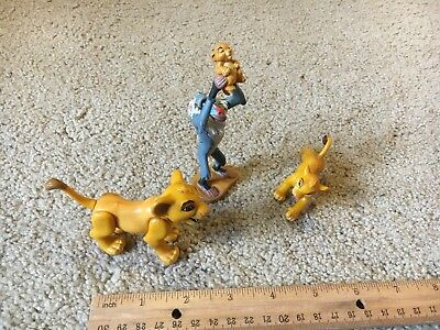 Lot 3 Simba Movie Rafiki Lion King Characters Toy Animal Figures Moving Legs