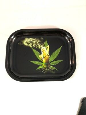 """Mary Jane"" Tobacco Herb Rolling Tray 5.5""x7"""