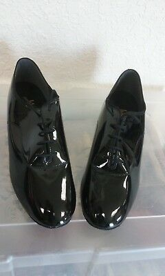 International dance shoes IDS ballroom mens model contra black patent size 9.5
