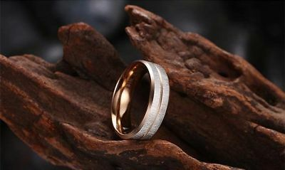 Titanium Steel 316L Damen Ring+Rose Gold+Gr 56 (17,8 mm Ø)+4,8 g