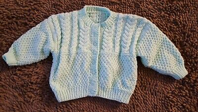 Handmade*Blue Vintage Cardigan Sweater*Size 12-18mos*EVC