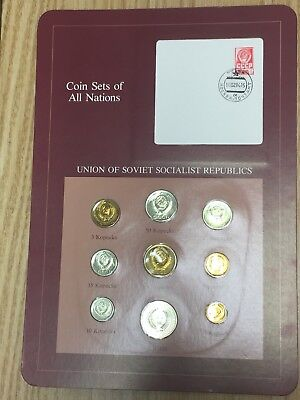 Coins Of All Nations RUSSIA USSR 1976 1Rouble 50,20,15,10,5,3,2,1 Kopeck 9 Coins
