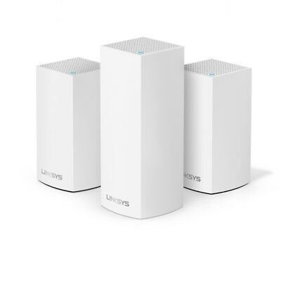 Linksys Velop Tri-Band Whole Home Intelligent Mesh WiFi System Easy Setup,3 Pack