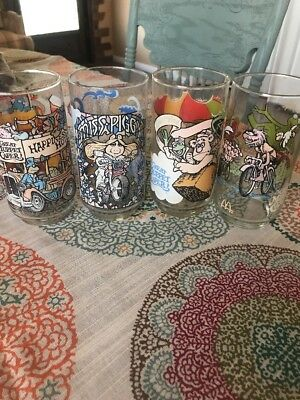 Group of (4) 1981 McDonalds The Great Muppet Caper Glasses Excellent
