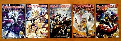 Iron Maiden Legacy of the Beast 1,2,3,4,5 Cover A 1st Print Heavy Metal NM/NM+