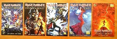 Iron Maiden Legacy of the Beast 1,2,3,4,5 Cover C 1st Print Heavy Metal NM
