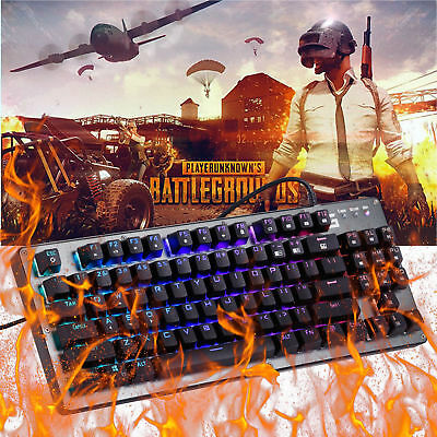 Professional RGB Backlit Wired Mechanical Gaming Keyboard K005 87 Keys For PUBG