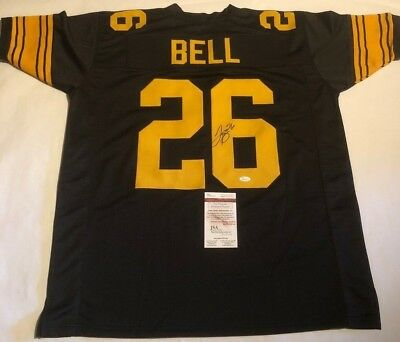 Le Veon Bell Autographed Pittsburgh Steelers Color Rush Jersey JSA  Witnessed COA 6202e7811