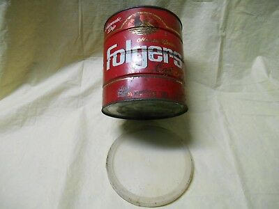Vintage Folgers Mountain Grown Coffee Tin Can Size 2 lb 2 Pound