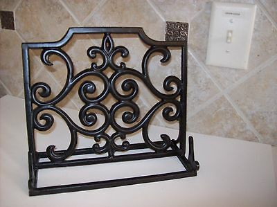 Table Top Black Enamel Cast Iron Book Holder Display Easel Music Note Holder