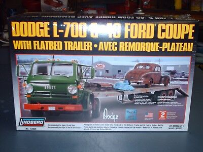 Dodge L700 cab and trailer and 40 ford coupe by Lindbergh 1/25 scale