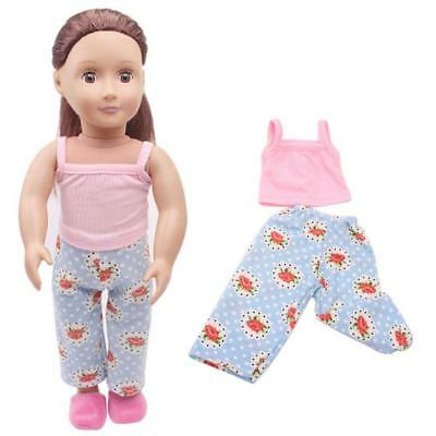 1 Set Handmade Doll Summer Cute Clothes For 18 Inch American Girl Doll Kids Toy~