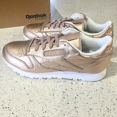 WOMEN S SHOES SNEAKERS REEBOK CLASSIC LEATHER MELTED METAL Rose Gold ... 675d8ac49