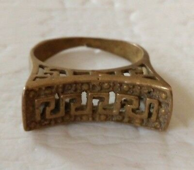 rare ancient solid ring bronze roman legionary artifact antique original amazing