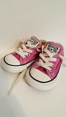 ddff49682105 Converse all star chucks kids shoes size 5c (12.5cm) pink color great  condition