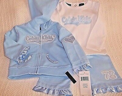 NWT Baby Girls/' 3-Piece  Jacket Top /& Leggings Set Outfites Size 6-9-18-24 Month