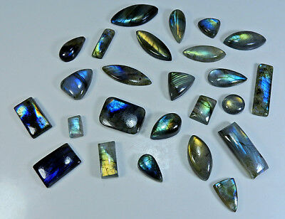 298cts. Natural Multi labradorite Cabochon Gemstone Lot 25pcs. Mix ;#4520