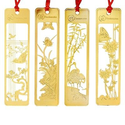 Chinese Metal Bookmarks Set for Kids Women Girls,Pack of 4 G5U3