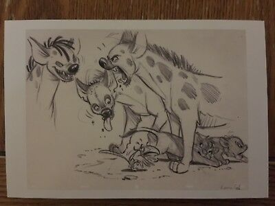 Postcard Unused Art Of Disney-From The Lion King- The 3 Fighting Hyenas (1994)