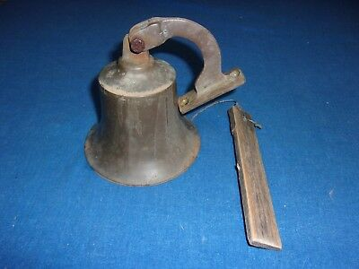Nice Antique Brass Marine Maritime Nautical Boat Or Ships Bell & Wall Mount