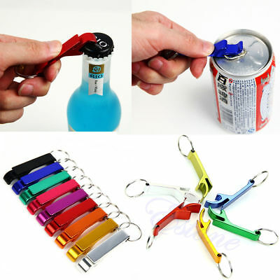 NEW Key Chain Aluminum Beer BOTTLE & CAN OPENER Small Beverage Ring Home Summer