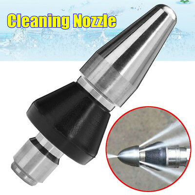 1 Front 3 Rear 3/8'' Pressure Washer Drain Cleaning Jetter Pipe Dredge Nozzle