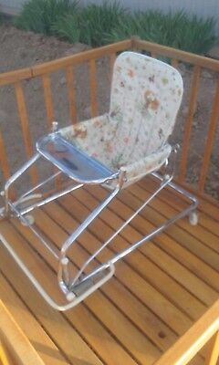 Baby walker bouncer seat antique vintage retro highchair stroller infant baby