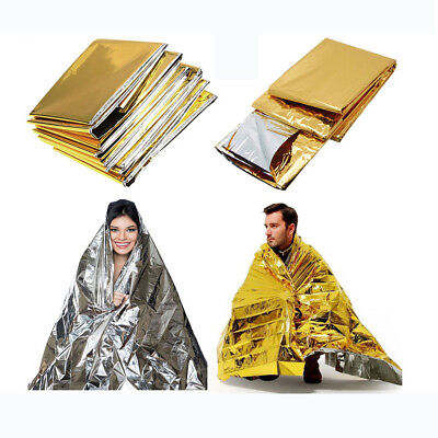 Dual Color Space Blanket Thermal Foil Emergency Survival Camp Rescue First Aid
