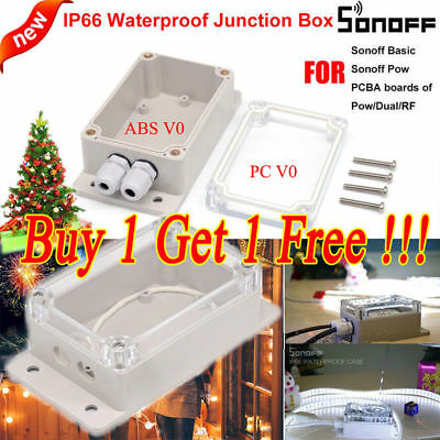 Sonoff IP66 Waterproof Junction Box Case For WIFI Basic RF Pow Dual TH Switch H1