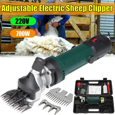 700W 220V Electric Shears Clipper Animal Sheep Goat Machine+2pcs Shearing Teeth