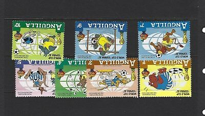 Mint 1982 Anguilla World Cup Espana 82 Bedknobs And Broomsticks Set Of 8