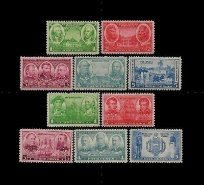 US 1936-1937 Army / Navy Set, Stamps 785 - 794 (10), Mint MNH - JP1