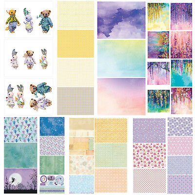 14pcs Watercolor Rose DIY Background Scrapbooking Photo Album Paper Card 15*20cm