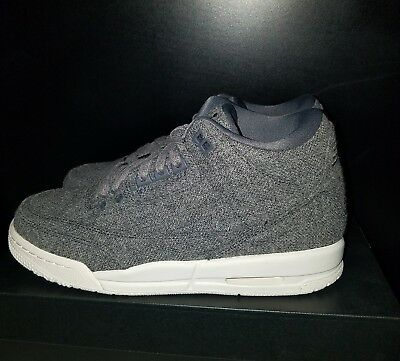 cbb6deaadf6d12 NIKE AIR JORDAN 3 Iii Retro Og Gs Bg Sz 6.5Y Wm 8 Wool Dark Grey Sail 861427  004 -  129.00
