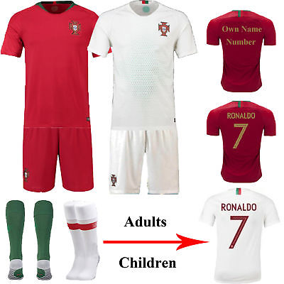 2018 Soccer Club Adult Kids Football Kit Short Sleeve Sport Outfit Jersey +Socks