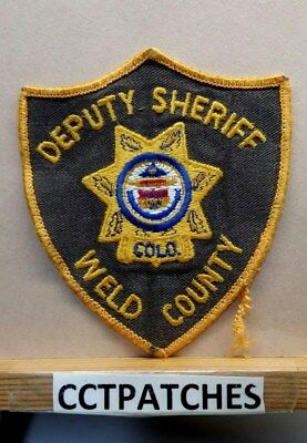 Weld County, Colorado Deputy Sheriff (Police) Shoulder Patch Co