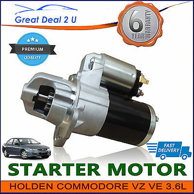 Starter Motor for Holden Commodore VZ VE V6 3.6L Petrol Adventra Statesman WL WM