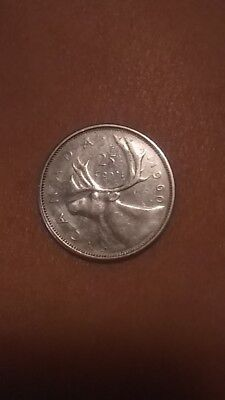 1960 Canadian coin 80% Silver circulated has not been graded good condition