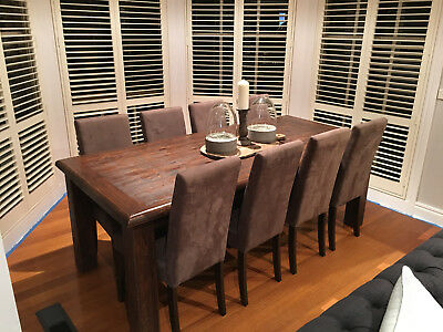 8 Seater Dinning Table & 8 Chairs Early Settler