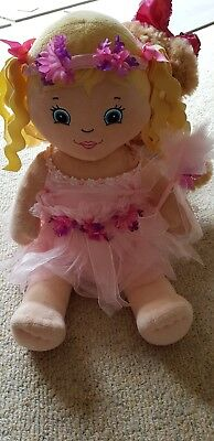 Build a Bear doll & teddy with clothes; fairy, hello kitty, slippers, shoes