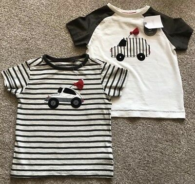 Brand New with tags 2 pack Baby Boys Next T Shirts Current Stock Vehicles 6-9m