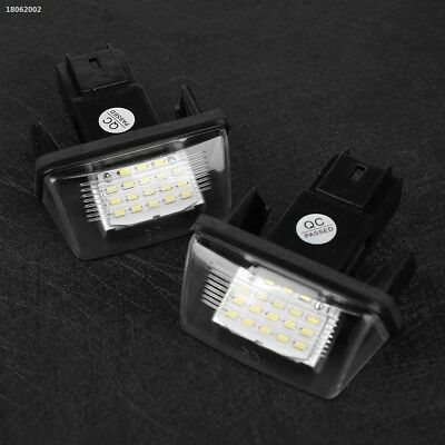 FDA3FB7 2Pcs 12V 18 LED Number License Plate Light Lamp For Peugeot 306 308 406