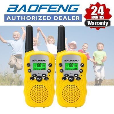 2x BAOFENG BF-T3 Mini Walkie Talkie Two Way Long Range Radio Yellow For Child AU