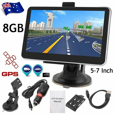 "7"" 5"" Truck Car GPS Navigator 8GB Navigation System Sat Nav Bluetooth Free Maps#"