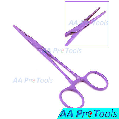 "AA Pro: Mosquito Hemostat Forceps 5"" Straight Purple Coated Stainless Steel"
