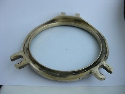 Antique VINTAGE SHIP PORTHOLE  WITH GLASS  BRASS