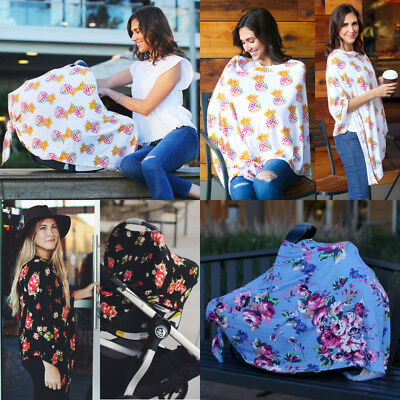 US Baby MM Breastfeeding Nursing Udder Covers Poncho Cover Up Soft Blanket Shawl