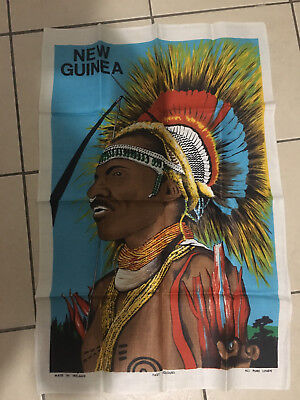 Vintage New Guinea Pure Linnen Tea Towel