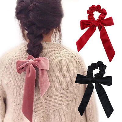 Velvet Scrunchies Elastic Hair Rings Scrunchy Bow Ponytail Holder Hair Tie Band