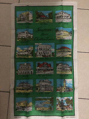 Vintage Charters Towers Pure Linnen Tea Towel